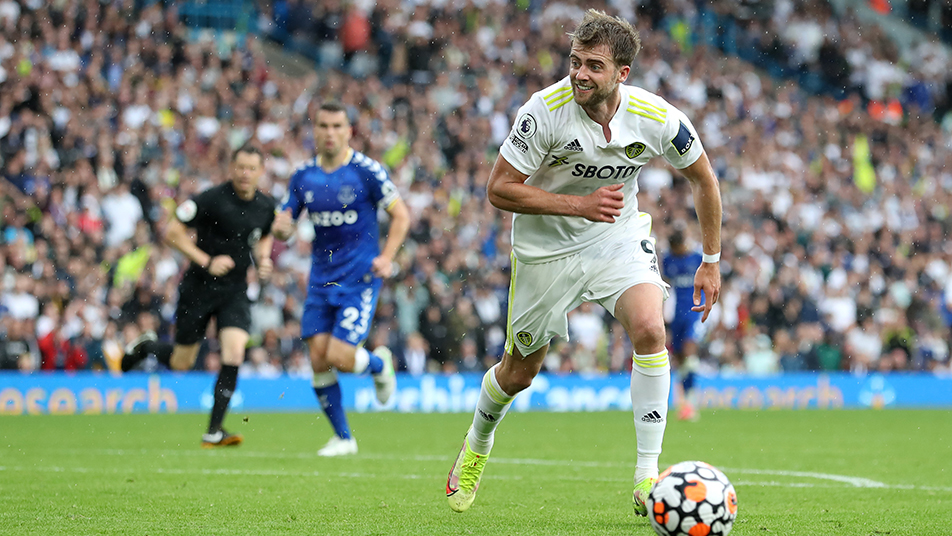 Patrick Bamford, pictured in action for Leeds this season, has previously represented England at MU18, MU19 and MU21 level