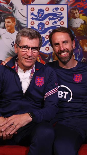 Eddie Keogh with Gareth Southgate