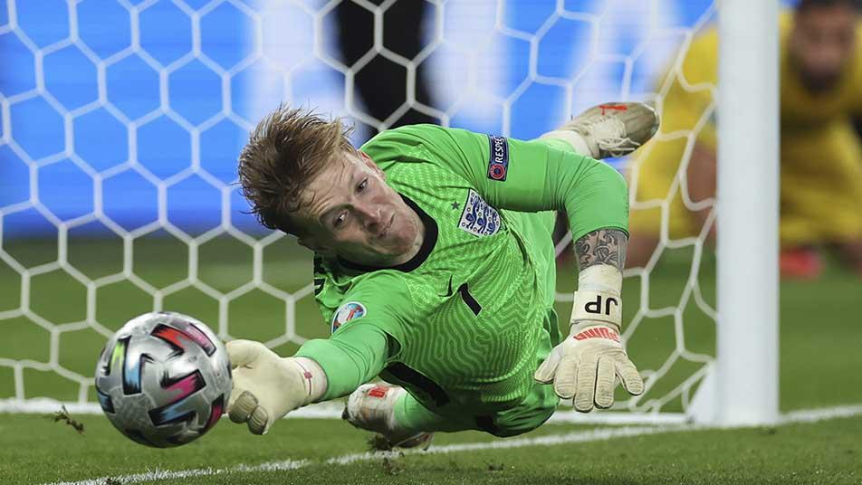 England goalkeeper Jordan Pickford
