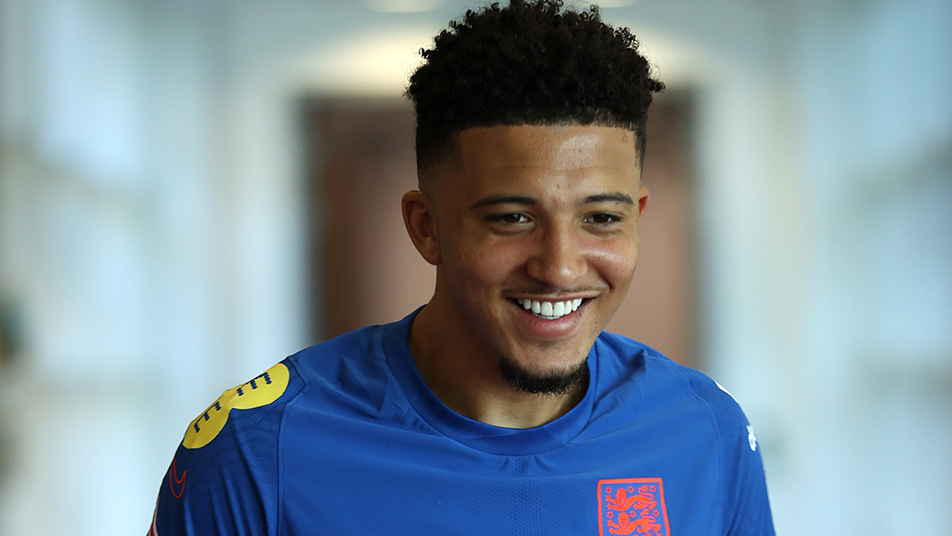 Jadon Sancho was the first visitor to the Lions' Den Diary Room