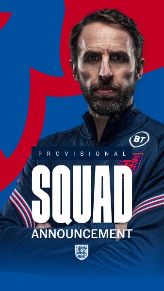 England men's provisional squad announcement