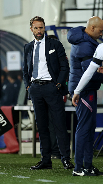 England manager Gareth Southgate watches on in Andorra