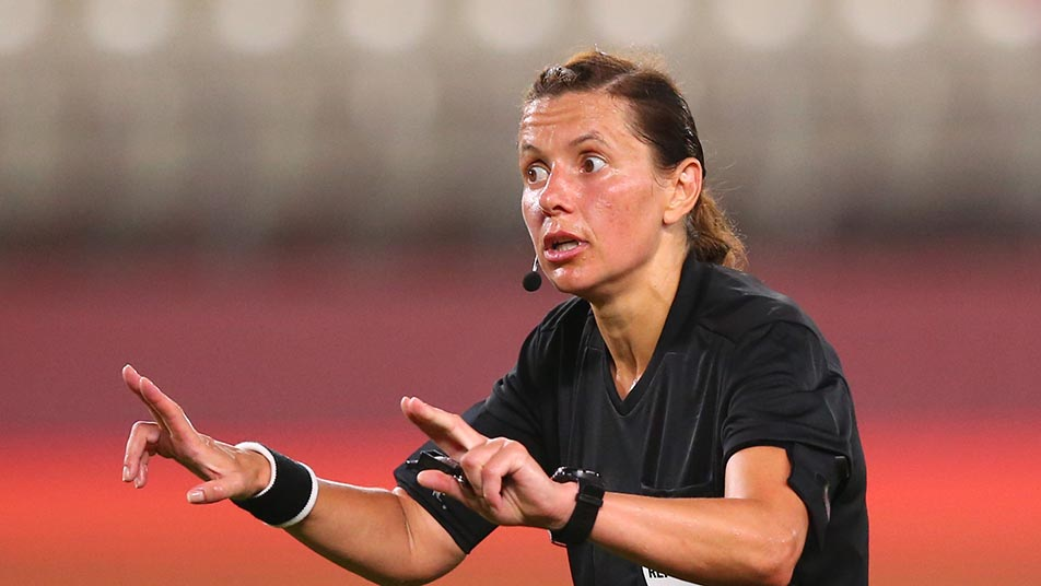 Kateryna Monzul will become the first woman referee to officiate an England men's senior team game on Saturday
