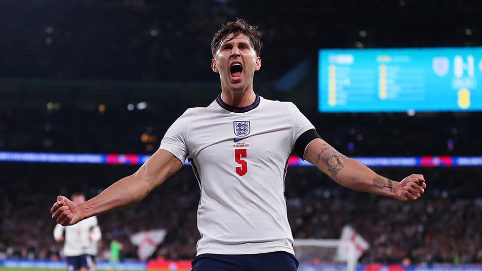 John Stones opened the scoring for England in the first half