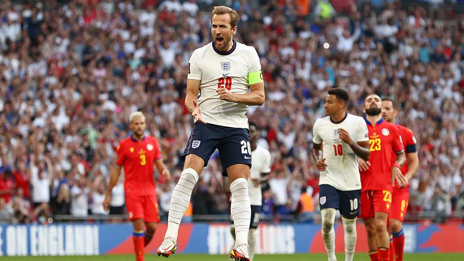 Harry Kane registered his 40th goal for the Three Lions with a second-half penalty