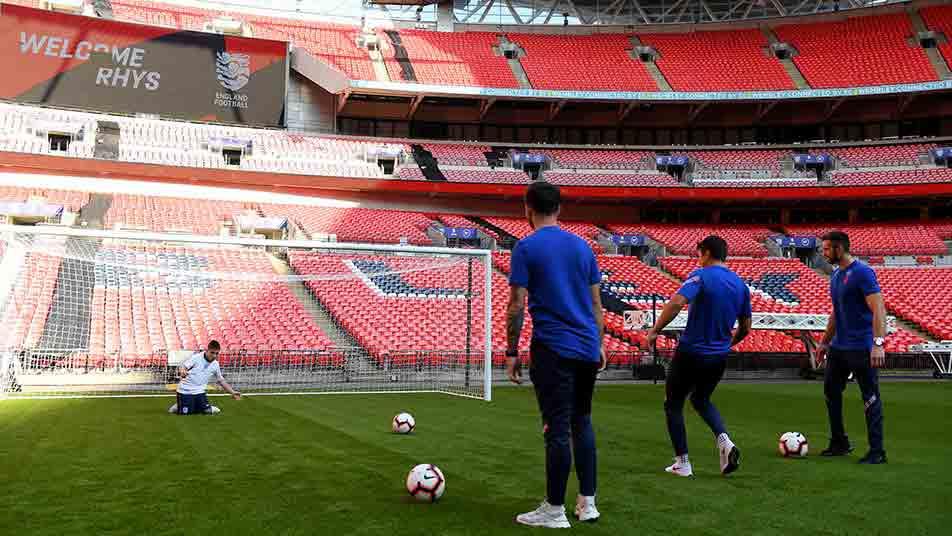Matt Crossen, David Porcher and Giles Moore were constantly denied by Rhys at Wembley Stadium.