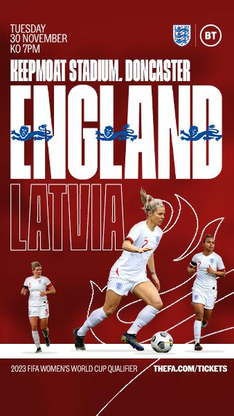 England v Latvia at Doncaster Rovers' Keepmoat Stadium
