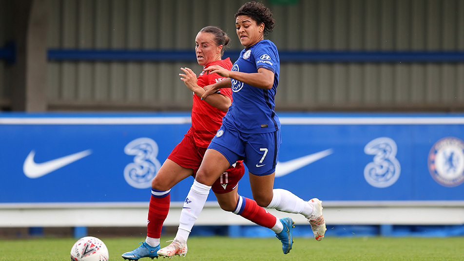 Chelsea's Jess Carter is back in an England squad for the first time since November 2017