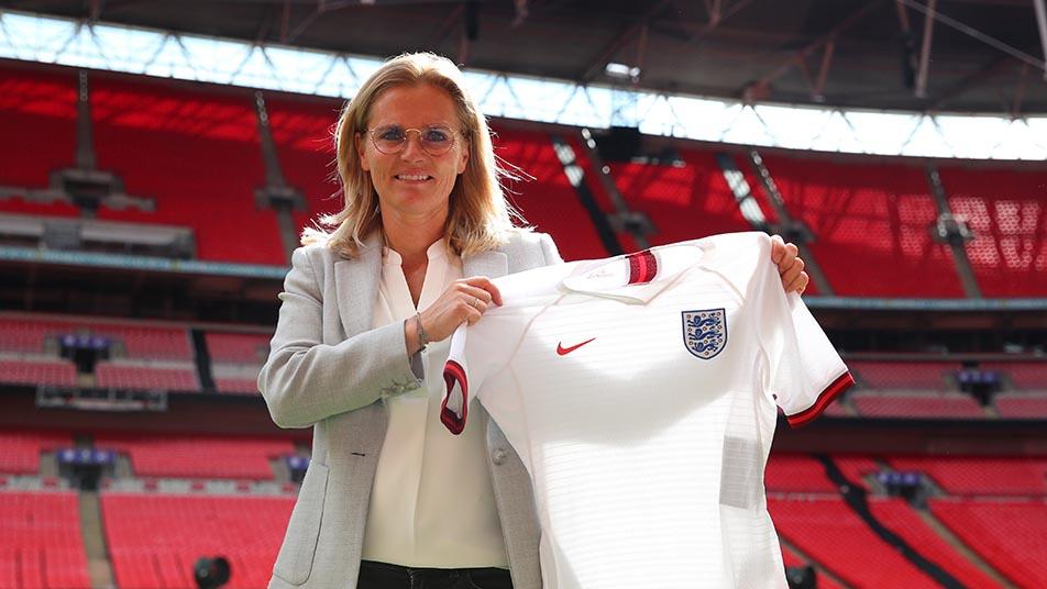 Sarina Wiegman was presented to the media at Wembley Stadium last week