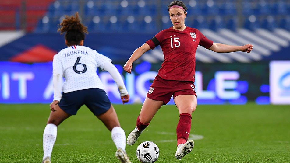 Lotte Wubben-Moy playing against France earlier this year.