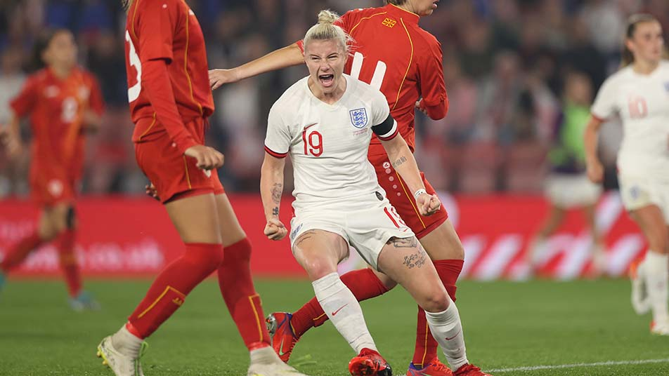 Bethany England bagged a brace after coming off the bench at St. Mary's Stadium