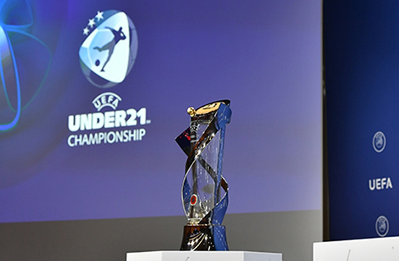 The UEFA U21 EURO trophy