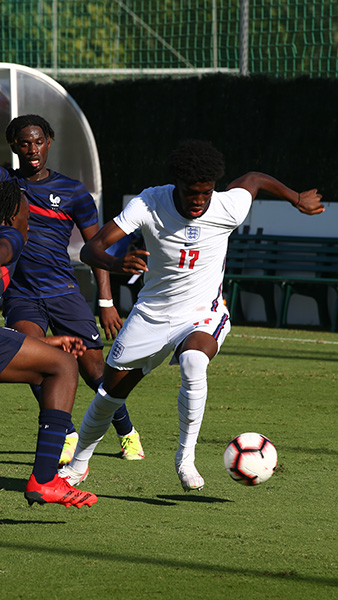 England MU19s' Sam Iling-Junior in action against France in Marbella