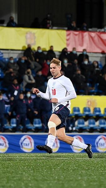 England MU21s goal against Andorra