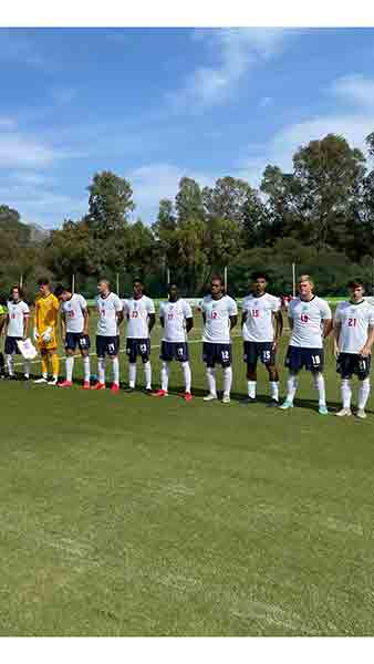 England MU18s line up to face Russia