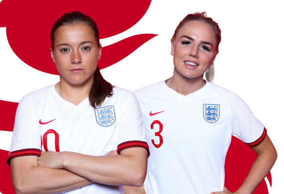 Fran Kirby (left) and Alex Greenwood
