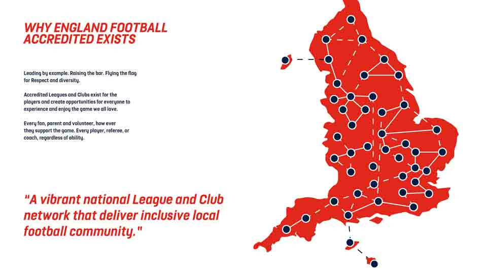 England Football Accredited map