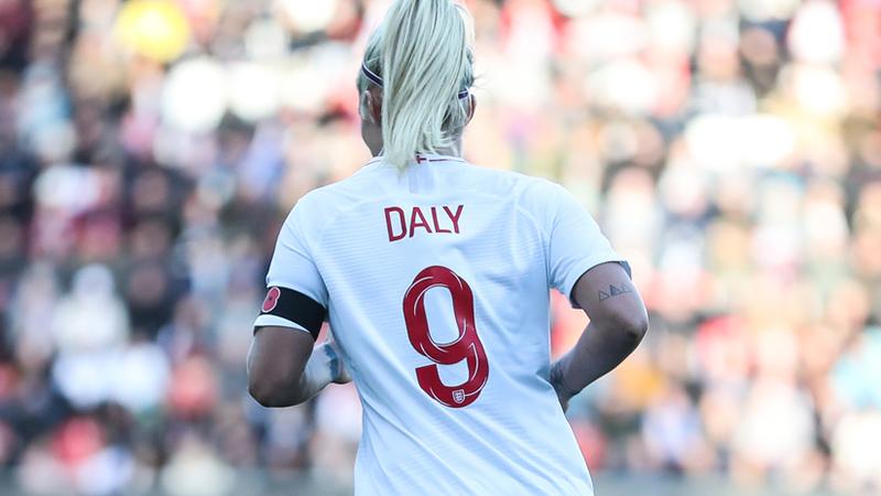 Rachel Daly in action against Sweden