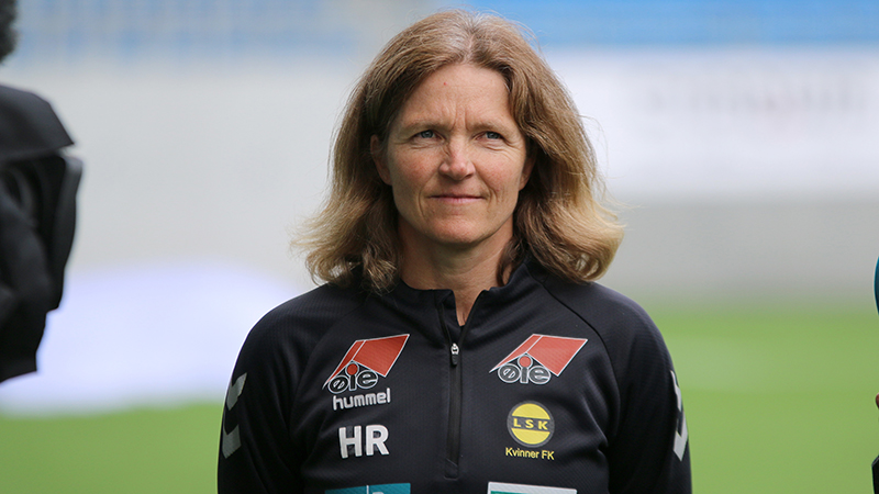 Hege Riise pictured during her time as manager of LSK