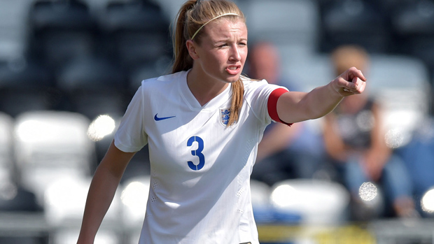 Leah Williamson in England action